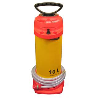 Pressure water container (10 liters), manometer with 2,5m hose + plug coupling